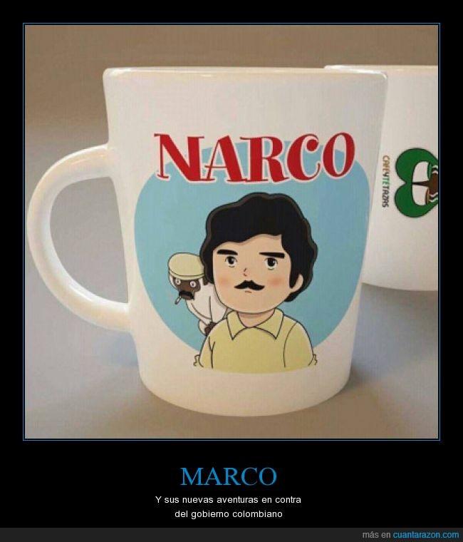 Marco,Narcos,Pablo Escobar,serie,taza