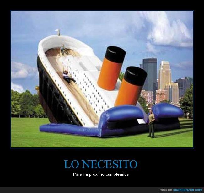 castillo,hinchable,regalo,titanic