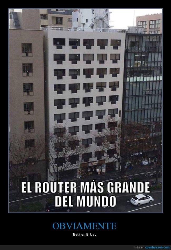 bilbao,edificio,router,ventanas