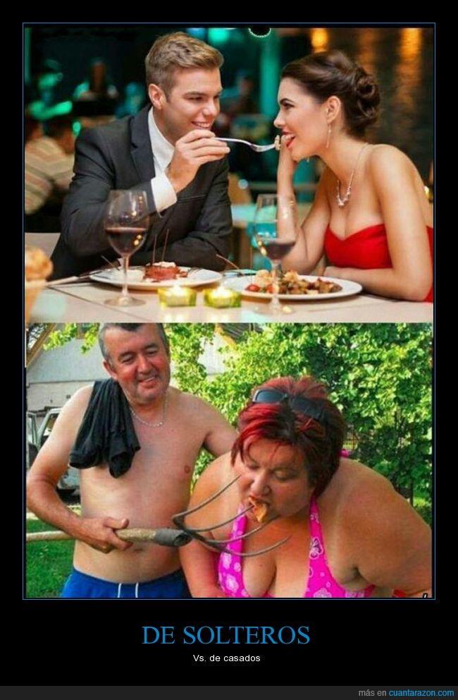 hombres solteros vs casados