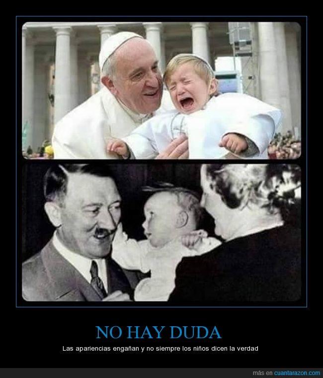 Francisco,Hitler,niño,papa,pontifice