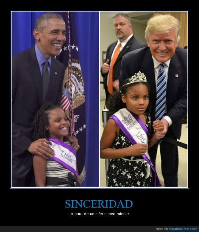 asustada,little miss,niña,obama,trump