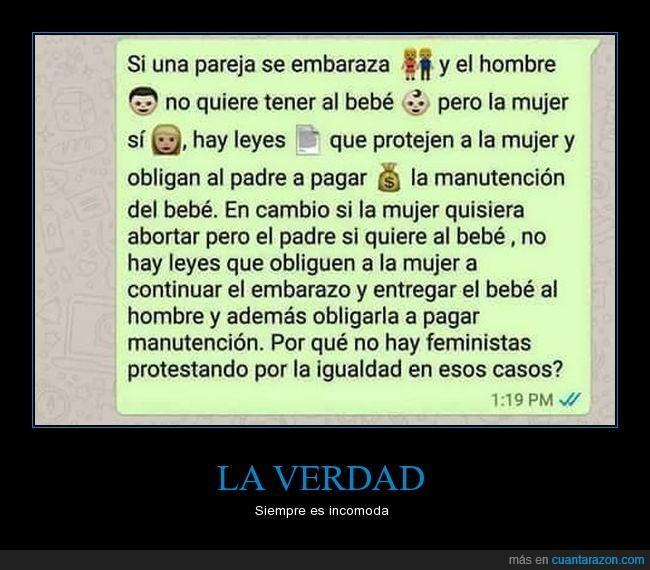 bebes,feminazis,feministas,géneros,igualdad,obligación,protección