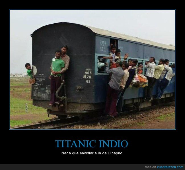 enamorados,titanic,tren