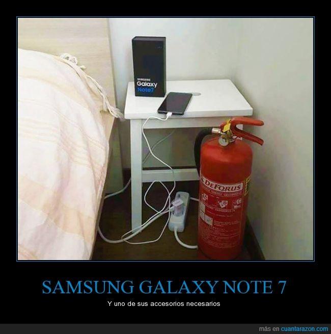 explota,extintor,samsung galaxy note 7,se quema