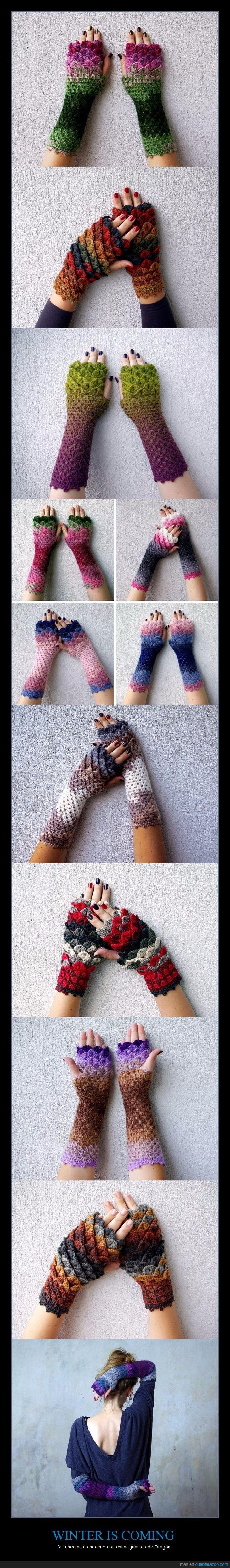 dragón,guantes