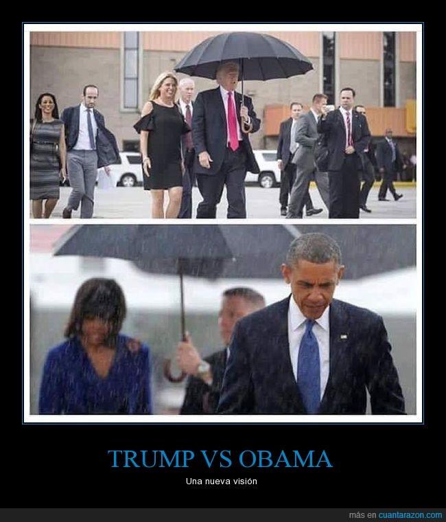 altruista,generoso,obama,paraguas,trump