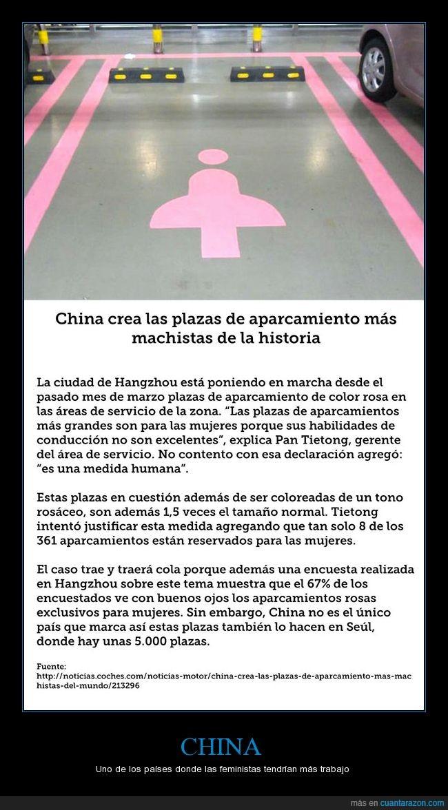 aparcamiento,de parking,igualdad,mujeres,plazas,rosa,wtf