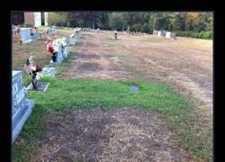 Enlace a Un matrimonio descubre por qué la tumba de su hijo está llena de césped y se emociona