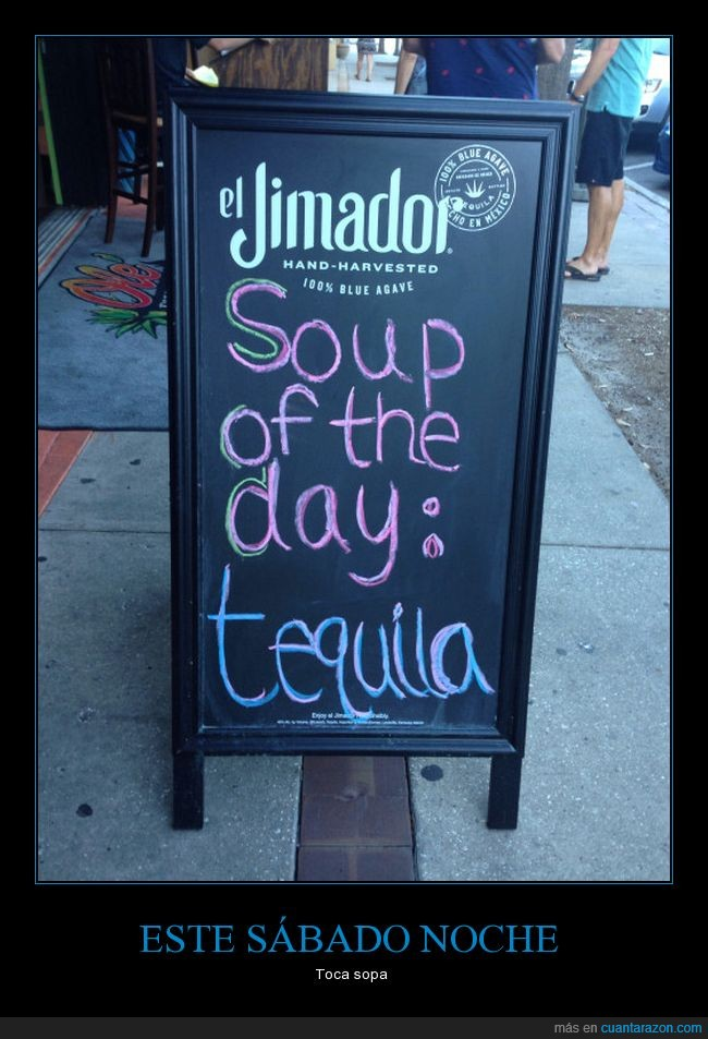 bar,cartel,sopa,tequila