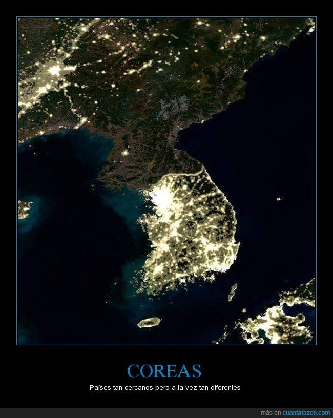 apagón,Corea del Norte,Corea del Sur,hora del planeta,luz,satélite