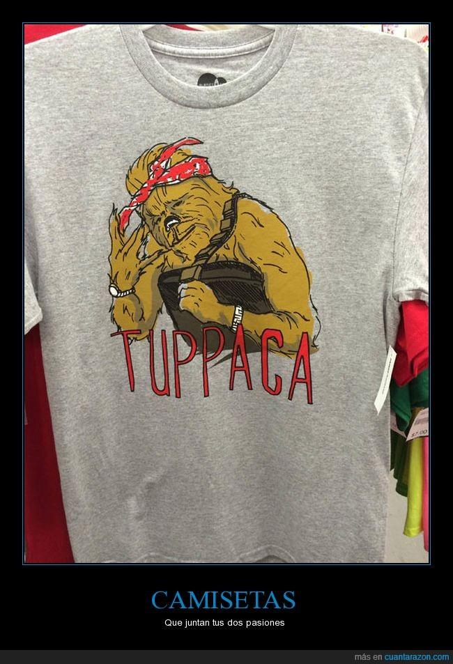 camisa,chewbacca,crossover,tupac,wat