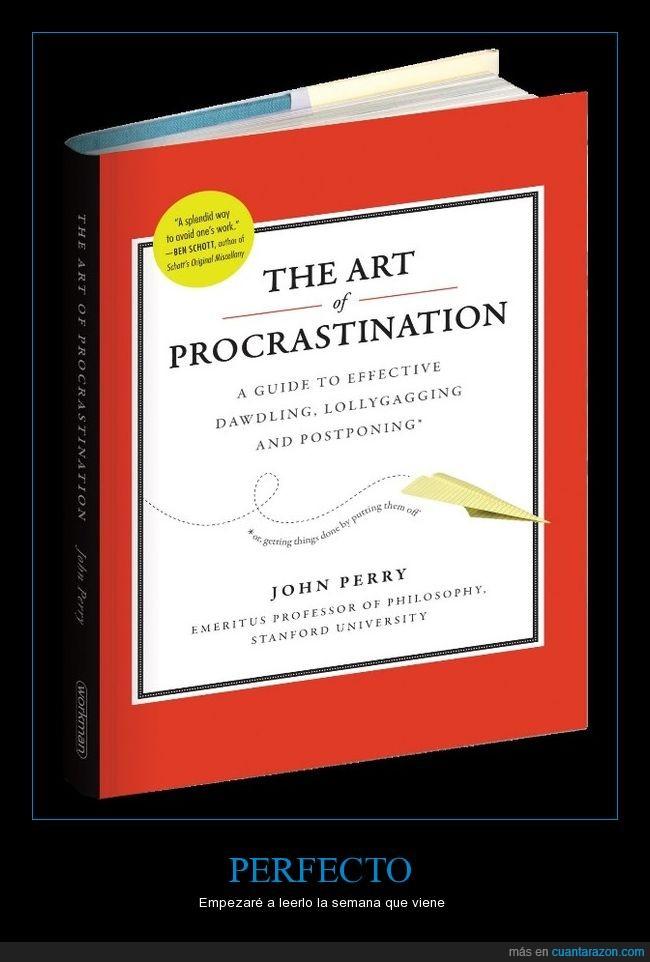 leer,libro,perfecto,procrastinación