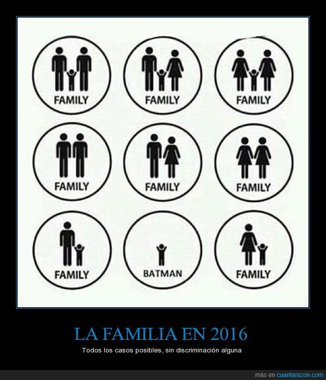 abiertos,batman,discriminar,familia