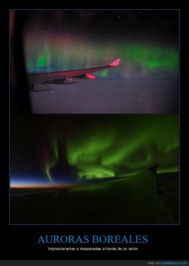 Ala,Aurora Boreal,Austral,Avión,Luz,Noche,Sol
