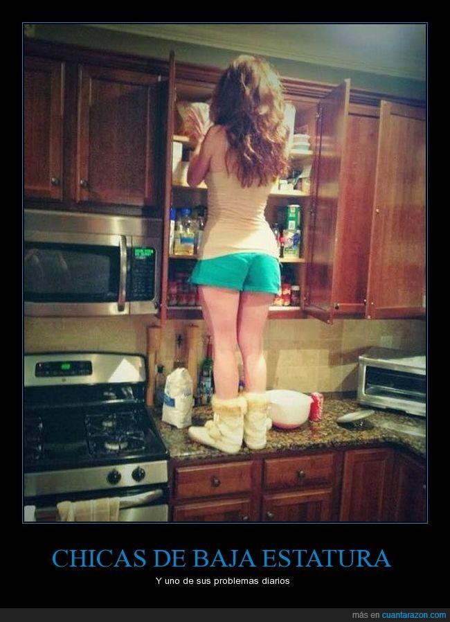 baja,chicas,cocina,especias,estatura