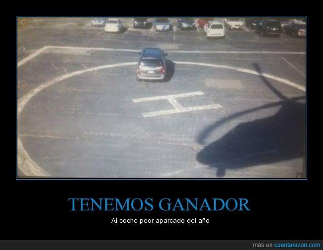 aparcar,coche,helicóptero,helipuerto