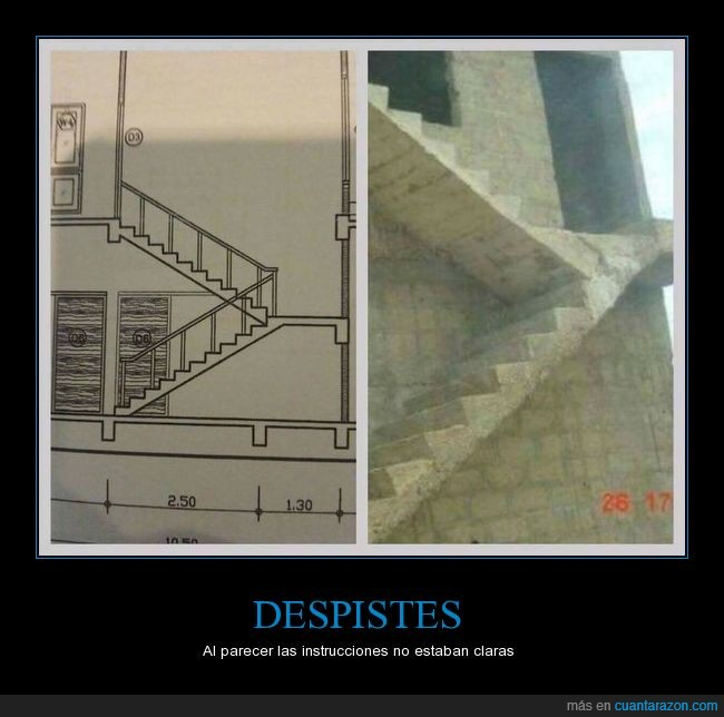 error,escaleras,plano