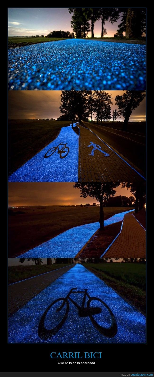 brillar,carril bici,genial idea,polonia