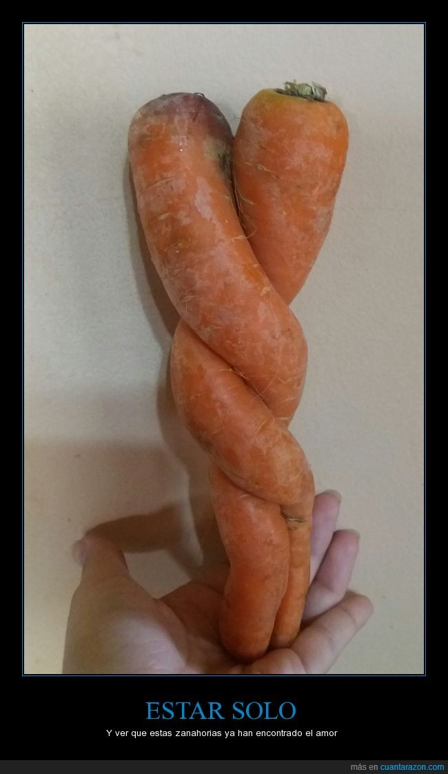 Amor,foreveralone,zanahorias