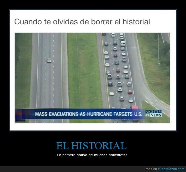 Catastrofe,evacuación,historial,huracan
