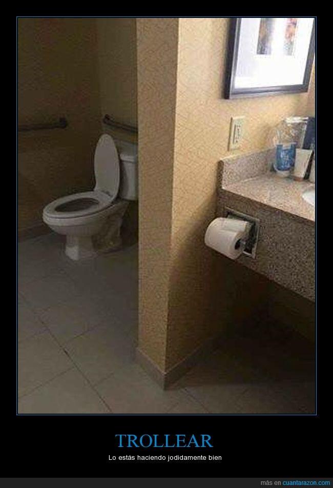 cuarto de baño,lejos,papel,wc