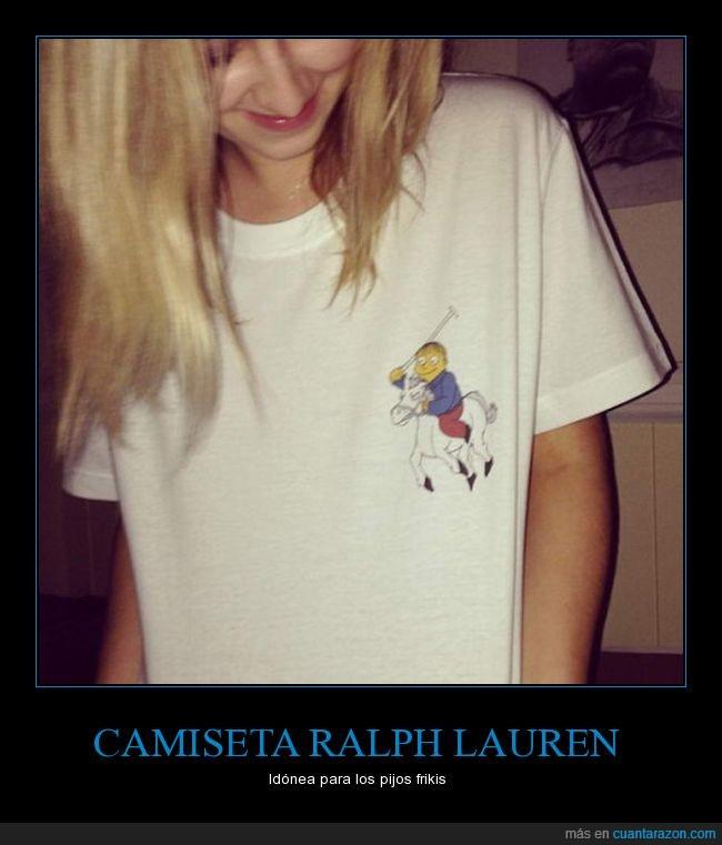 camiseta,logo,ralph lauren,ralph wigum