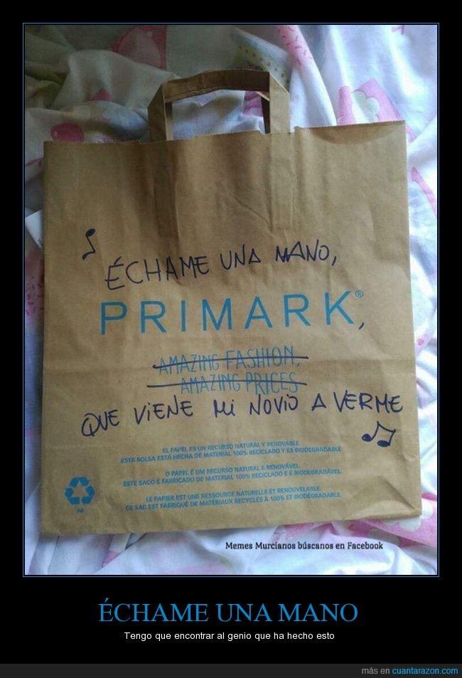 bolsa,canción,juego de palabras,primark