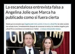 Enlace a La escandalosa entrevista falsa a Angelina Jolie que Marca ha publicado como si fuera cierta