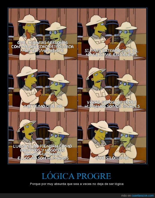 logica,los simpsons,progre,silogismo,¡Al progremobil!