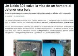 Enlace a Un Nokia 301 salva la vida de un hombre