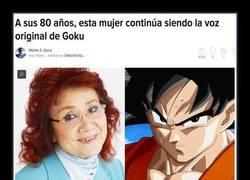 Enlace a A sus 80 años, esta mujer continúa siendo la voz original de Goku