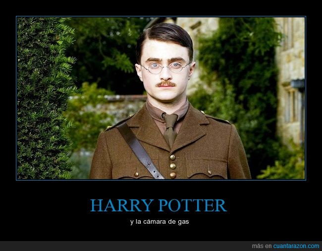 cámara de gas,Daniel,Daniel Radcliffe,en realidad es un soldado británico pero si no no tendría chiste,harry,harry potter,Harry Potter y la cámara de gas,mi hijo jack,my boy jack,potter,Radcliffe