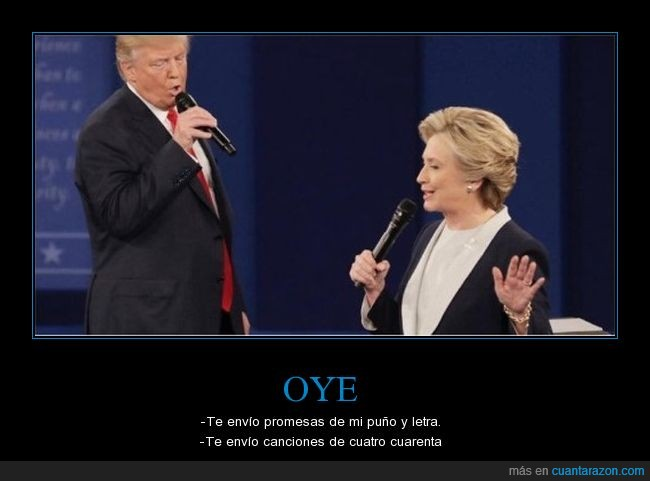 cancion,donald trump,hillary clinton