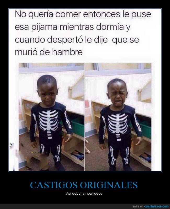 comer,esqueleto,hijo,niño
