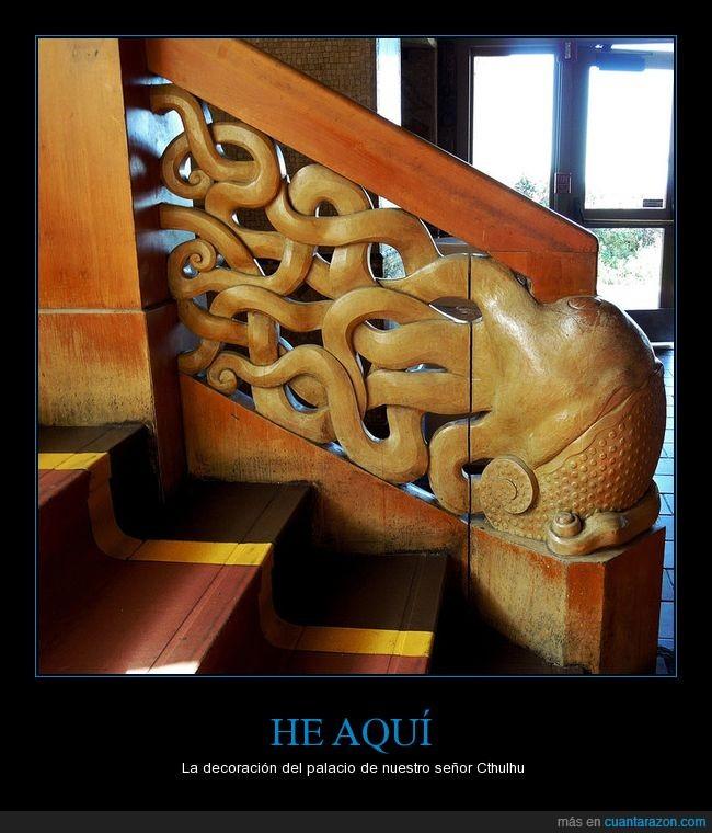Cthulhu,decoración,escalera,palacio