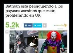Enlace a Batman está empezando a seguir a los payasos asesinos en UK
