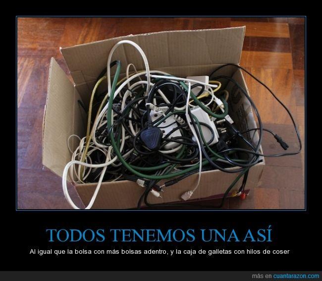 cables,canasta,cosas,electronicos