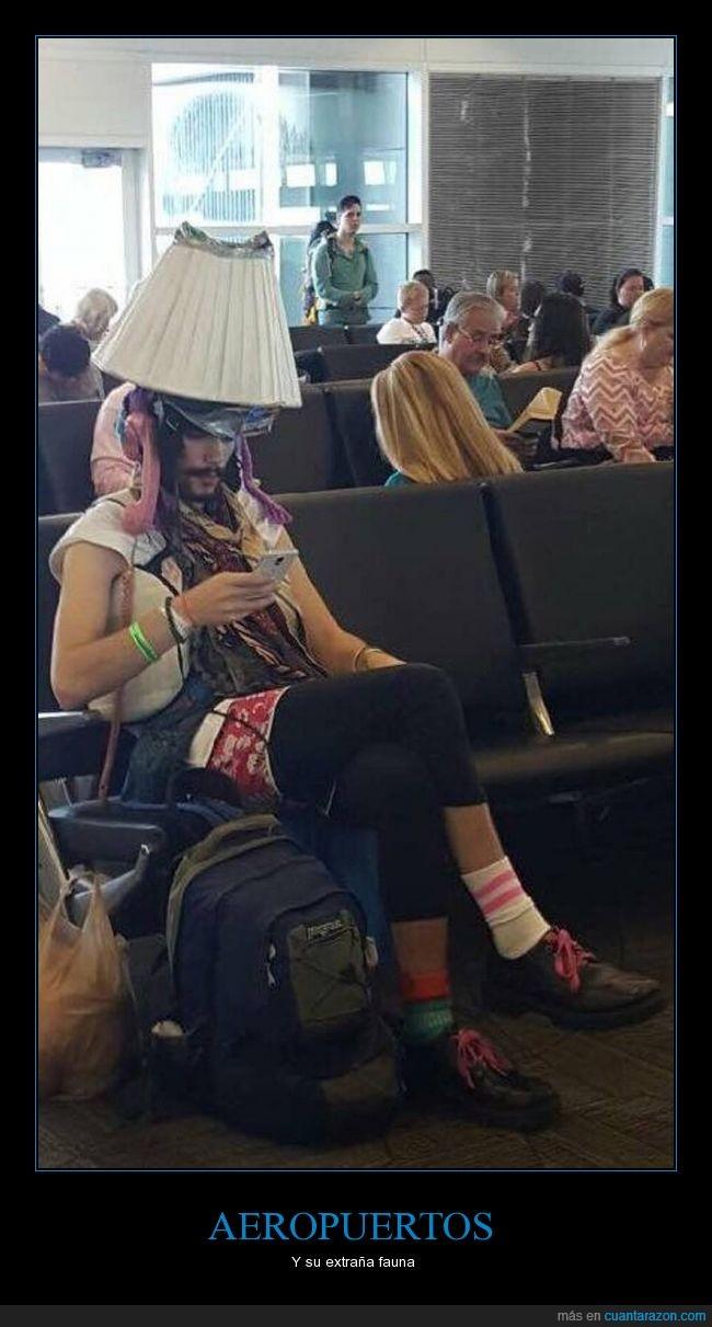 Aeropuerto,Jack sparrow,lámpara