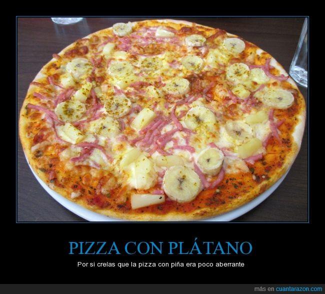 comida,piña,pizza,plátano