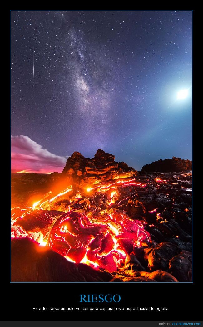 foto,lava,milky way,volcán