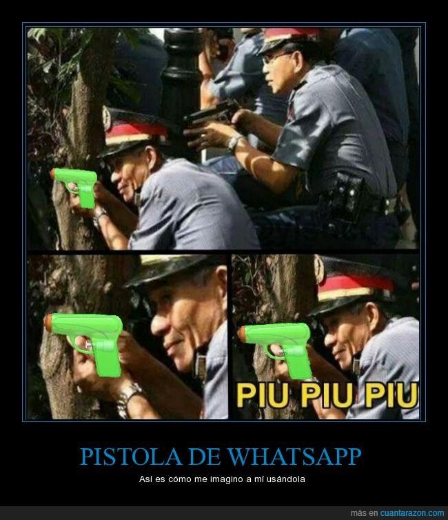 emoticono,Nueva,pipa,pistola,WhatsApp