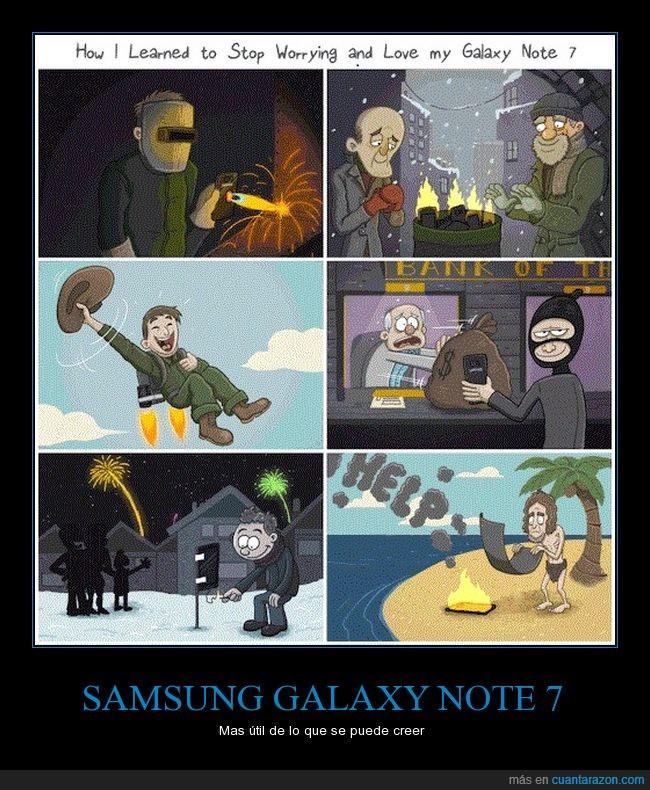 bomba,explosión,samsung galaxy note 7,útil