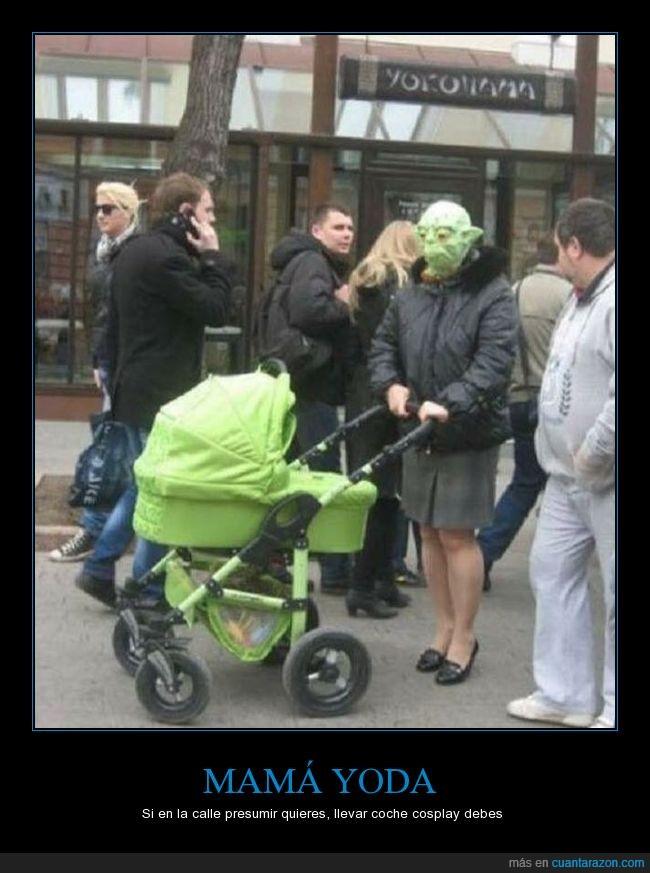 bebé,carrito,yoda
