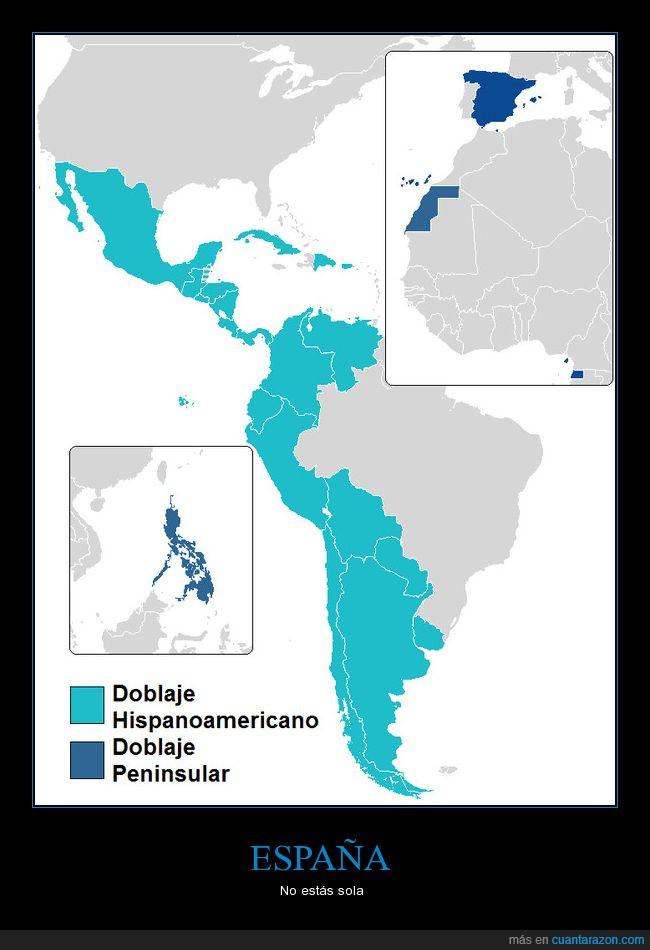 Doblaje Hispanoamericano,Doblaje Peninsular