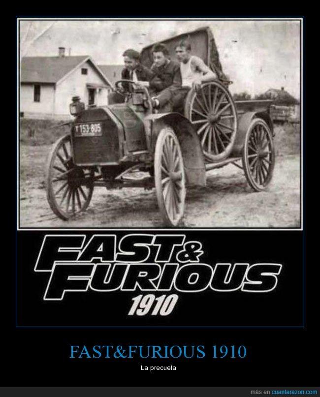 a todo gas,antiguo,carromato,fast & furious,precuela