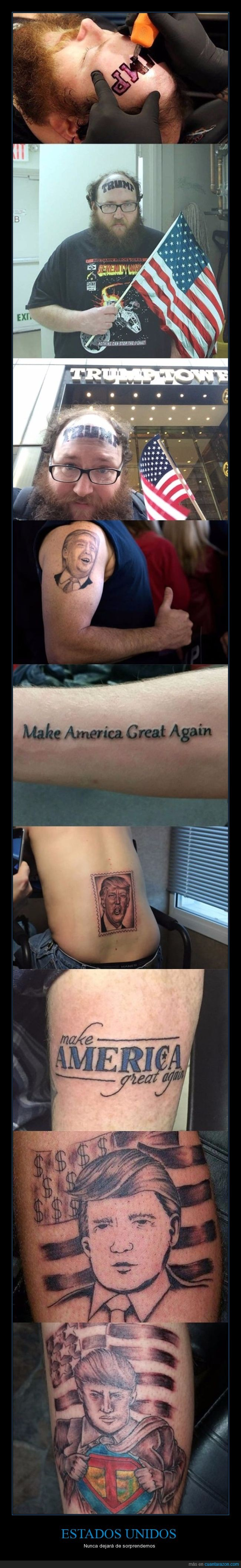 donald trump,tatuajes