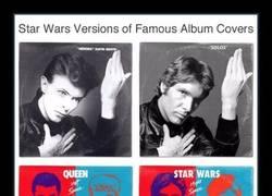 Enlace a Álbumes de música legendarios pasados por un filtro de STAR WARS