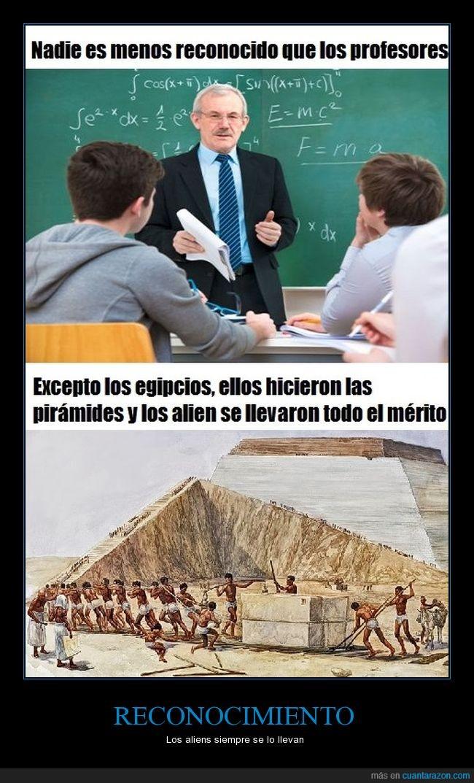 egipcios,pirámides,profesores,reconocimiento