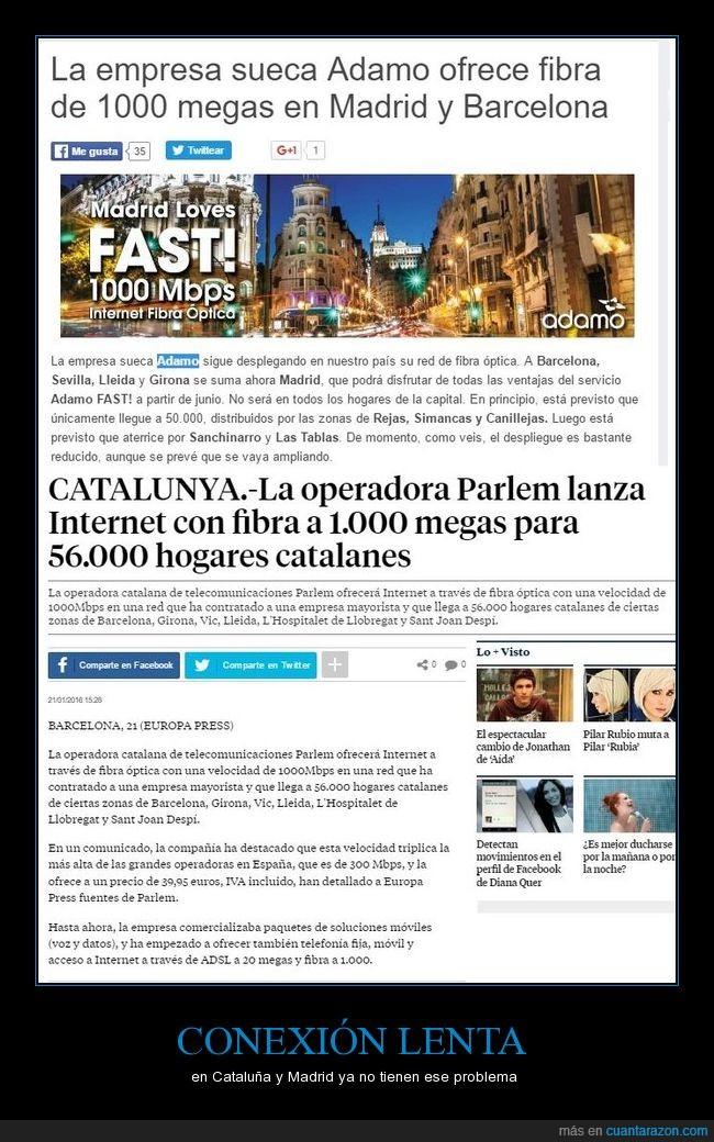 Adamo está también en Sevilla,conexión,eso demuestra que el resto no la ofrecen porqué no quieren,fibra óptica,las mejores ofertas las tienen las pequeñas marcas,ojalá se extienda,OMV,son bastante baratas las tarifas